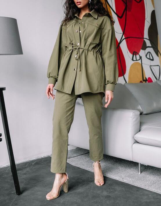 Джинсовый костюм Nala MC_MY0720, фото 4 - в интеренет магазине KAPSULA