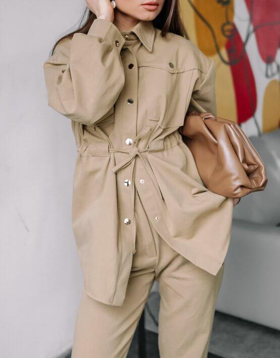 Джинсовый костюм Nala MC_MY0820, фото 4 - в интеренет магазине KAPSULA