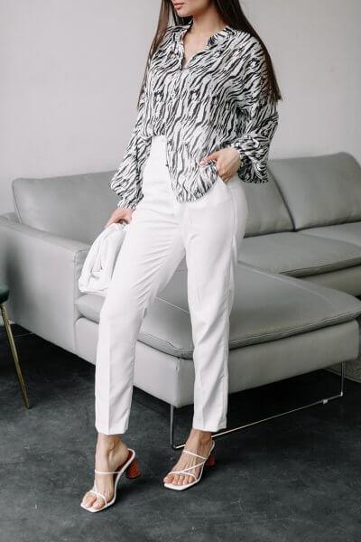 Прямые брюки Nakoma из хлопка MC_MY1120, фото 1 - в интеренет магазине KAPSULA