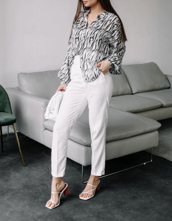Прямые брюки Nakoma из хлопка MC_MY1120, фото 2 - в интеренет магазине KAPSULA
