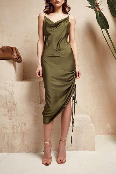 Платье на кулиске Muse MC_MY1520, фото 6 - в интеренет магазине KAPSULA