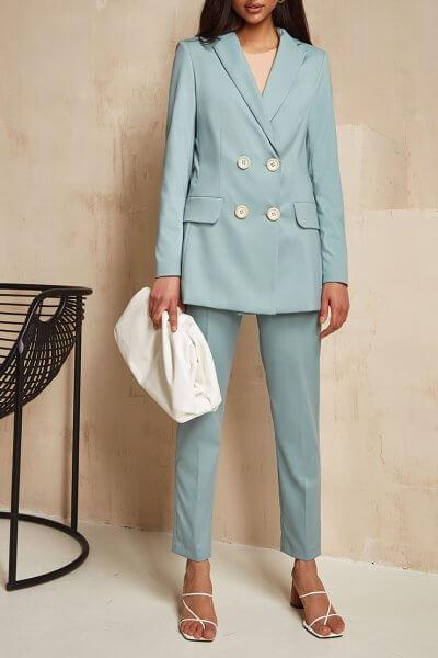 Хлопковый костюм с поясом Gia MC_MY1920, фото 1 - в интеренет магазине KAPSULA