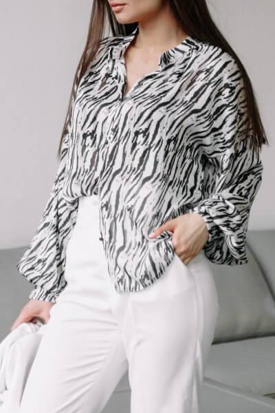 Объемная блуза из шифона MC_MY2020, фото 1 - в интеренет магазине KAPSULA