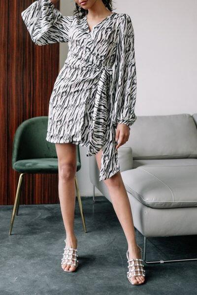 Платье на запах из шифона MC_MY2520, фото 5 - в интеренет магазине KAPSULA