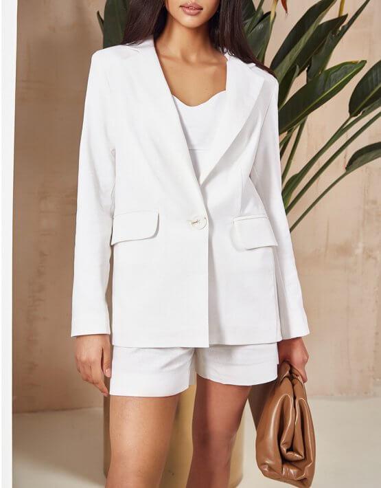 Льняной костюм с шортами MC_MY3220, фото 4 - в интеренет магазине KAPSULA