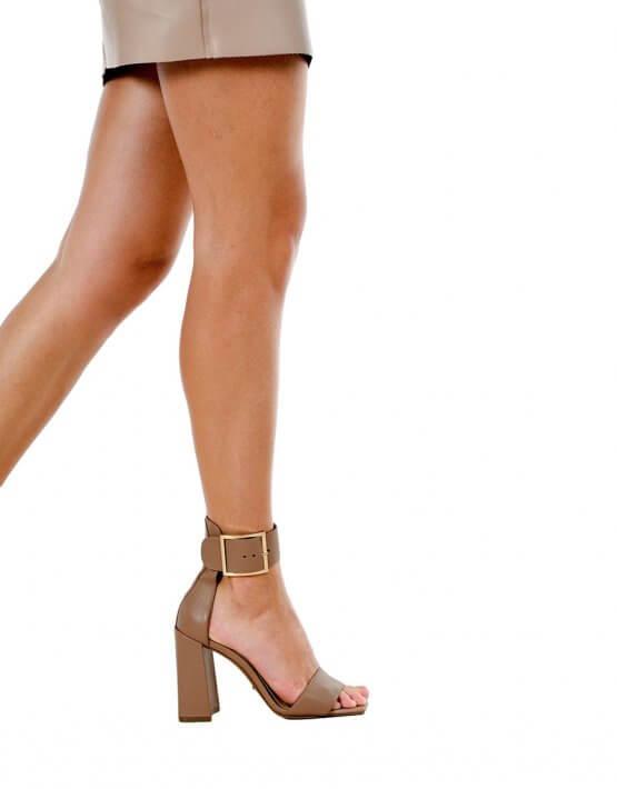 Кожаные босоножки на каблуке MDVV_818401, фото 4 - в интеренет магазине KAPSULA