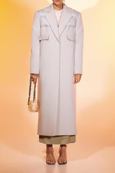Прямое пальто из шерсти MF-FW2021-1, фото 5 - в интеренет магазине KAPSULA