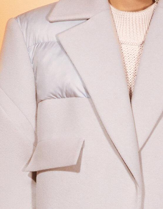 Прямое пальто из шерсти MF-FW2021-1, фото 2 - в интеренет магазине KAPSULA