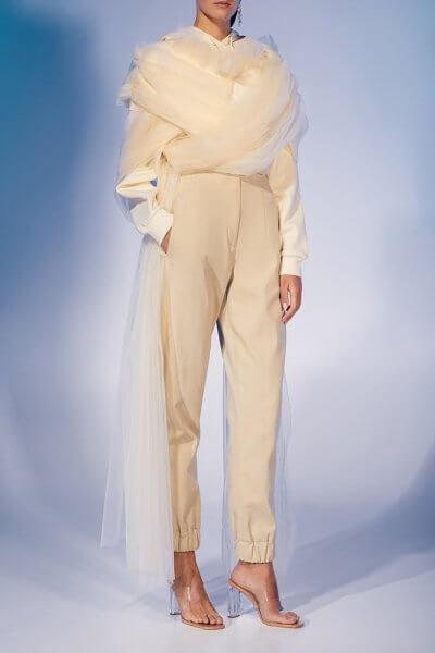 Прямые брюки из хлопка на манжетах MF-FW2021-10, фото 6 - в интеренет магазине KAPSULA