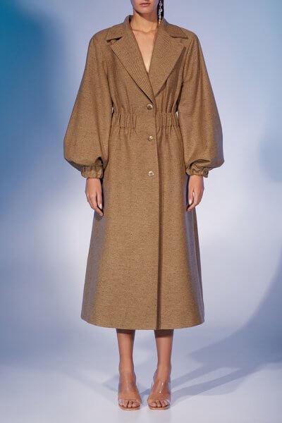 Пальто из шерсти с объёмными рукавами MF-FW2021-11, фото 1 - в интеренет магазине KAPSULA