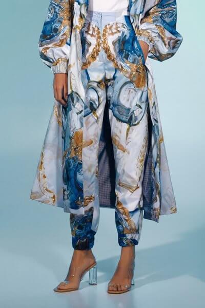 Прямые брюки с авторским принтом MF-FW2021-17, фото 1 - в интеренет магазине KAPSULA