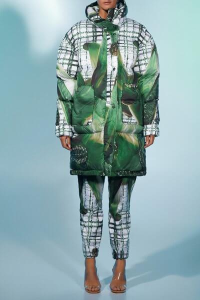 Прямые брюки с авторским принтом MF-FW2021-19, фото 2 - в интеренет магазине KAPSULA