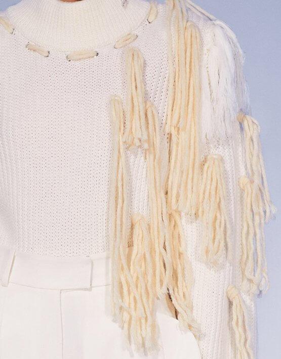 Кроп-свитер из мериносовой шерсти MF-FW2021-2, фото 2 - в интеренет магазине KAPSULA