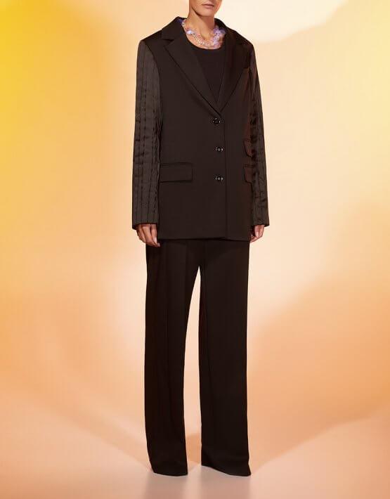 Прямые брюки из шерсти MF-FW2021-24, фото 2 - в интеренет магазине KAPSULA