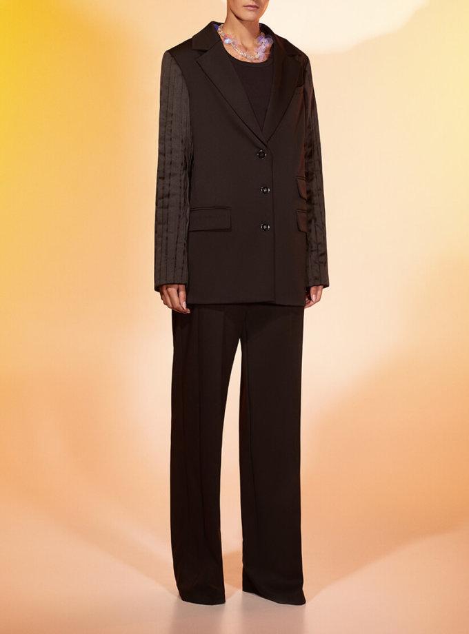 Прямые брюки из шерсти MF-FW2021-24, фото 1 - в интеренет магазине KAPSULA