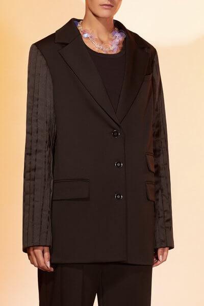 Жакет из шерсти с шелковыми рукавами MF-FW2021-23, фото 1 - в интеренет магазине KAPSULA