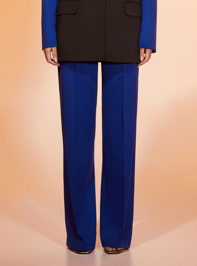 Прямые брюки из шерсти MF-FW2021-27, фото 1 - в интеренет магазине KAPSULA