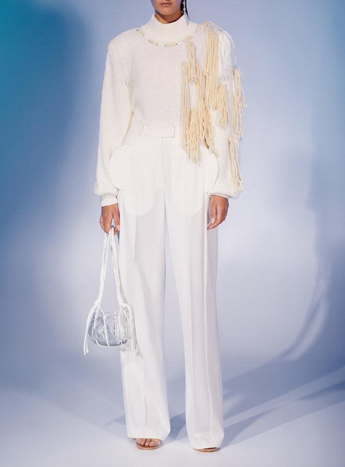 Прямые брюки из шерсти со складками MF-FW2021-3, фото 1 - в интеренет магазине KAPSULA