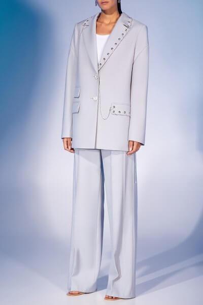 Прямые брюки из шерсти MF-FW2021-31, фото 1 - в интеренет магазине KAPSULA