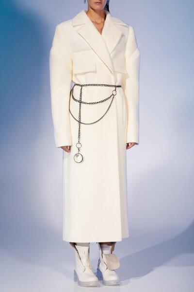 Прямое пальто из шерсти MF-FW2021-32, фото 4 - в интеренет магазине KAPSULA
