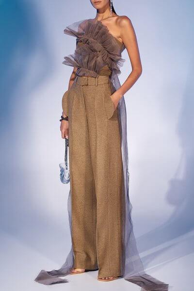 Прямые брюки из шерсти MF-FW2021-34, фото 3 - в интеренет магазине KAPSULA