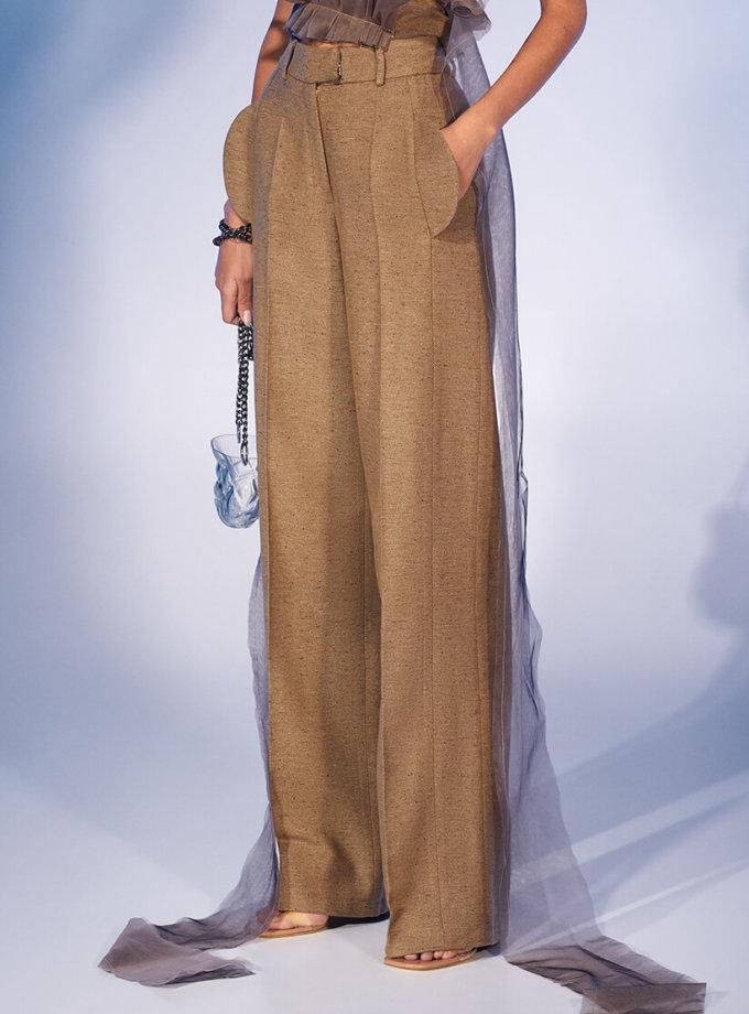 Прямые брюки из шерсти MF-FW2021-34, фото 1 - в интеренет магазине KAPSULA