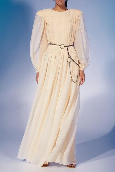 Платье макси из шелка MF-FW2021-35, фото 6 - в интеренет магазине KAPSULA