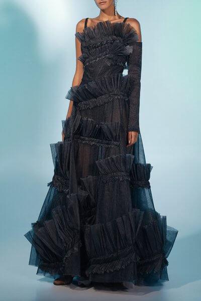 Кутюрное платье макси MF-FW2021-36, фото 1 - в интеренет магазине KAPSULA