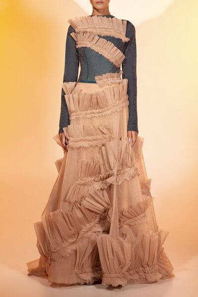 Кутюрное платье макси MF-FW2021-37, фото 1 - в интеренет магазине KAPSULA