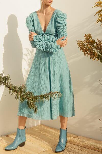 Платье миди из шелка MF-SS20-16, фото 1 - в интеренет магазине KAPSULA