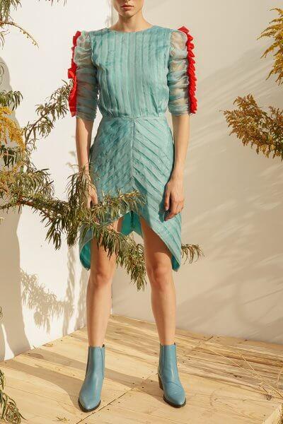 Платье мини с  контрастными вставками MF-SS20-19, фото 1 - в интеренет магазине KAPSULA
