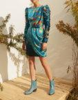Платье мини из шелка с драпировкой MF-SS20-1, фото 2 - в интеренет магазине KAPSULA