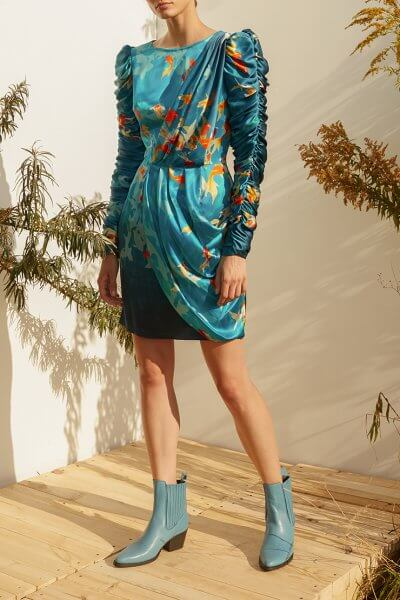 Шелковое платье на подкладе MF-SS20-2, фото 1 - в интеренет магазине KAPSULA