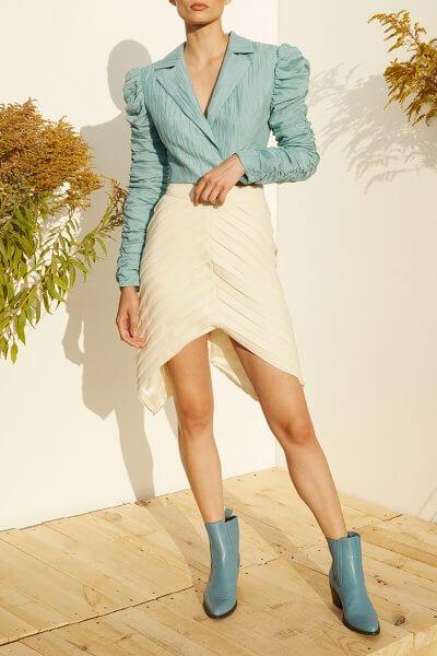 Асимметричная юбка на подкладе MF-SS20-22, фото 4 - в интеренет магазине KAPSULA