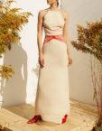 Асимметричная юбка на подкладе MF-SS20-22, фото 2 - в интеренет магазине KAPSULA