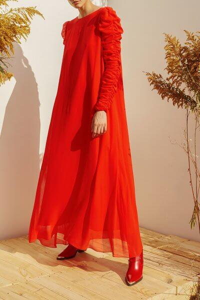 Шелковое платье А-силуэта MF-SS20-6, фото 1 - в интеренет магазине KAPSULA