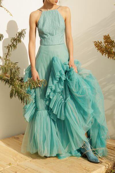 Платье макси с фактурной текстурой MF-SS20-7, фото 1 - в интеренет магазине KAPSULA