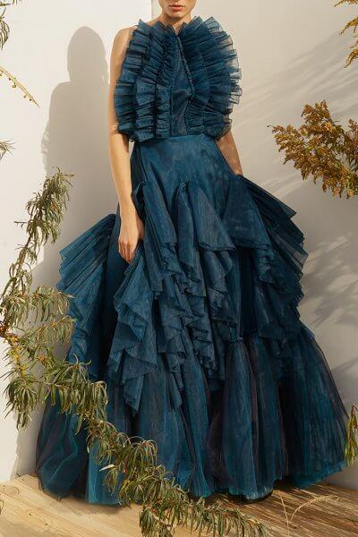 Платье макси с объемной юбкой MF-SS20-8, фото 1 - в интеренет магазине KAPSULA