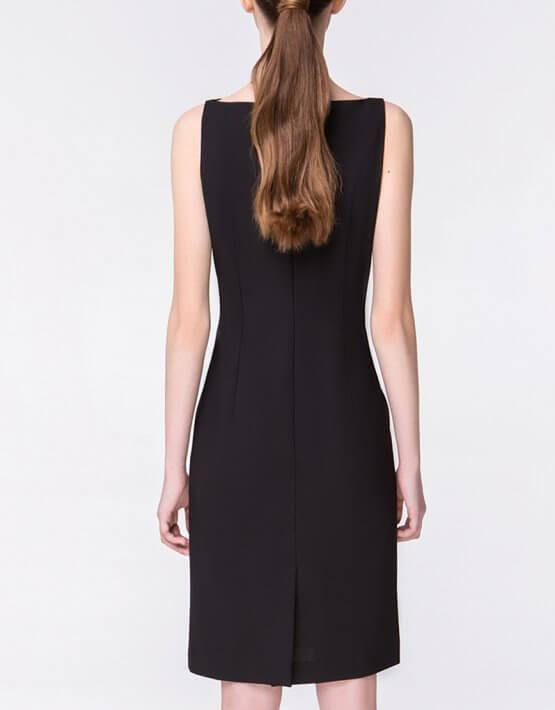 Платье-футляр на молнии MIN_ss1804, фото 3 - в интеренет магазине KAPSULA