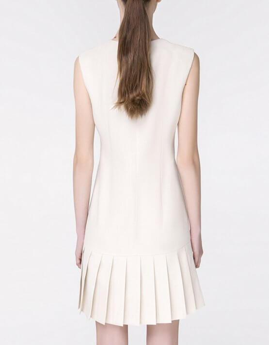 Платье с юбкой-плиссе MIN_ss1805, фото 3 - в интеренет магазине KAPSULA