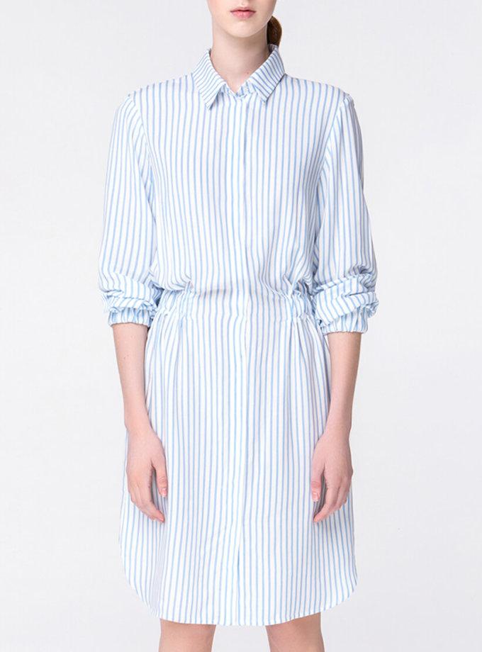 Платье-рубашка в полоску MIN_ss1806, фото 1 - в интернет магазине KAPSULA