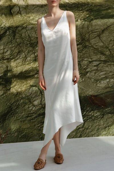 Асимметричное платье миди NVL_SS2020_2, фото 5 - в интеренет магазине KAPSULA