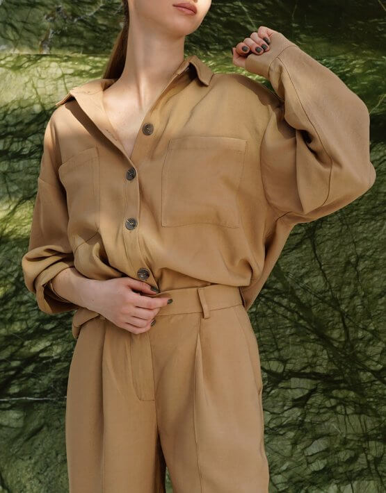 Рубашка oversize с карманами NVL_SS2020_4, фото 4 - в интеренет магазине KAPSULA
