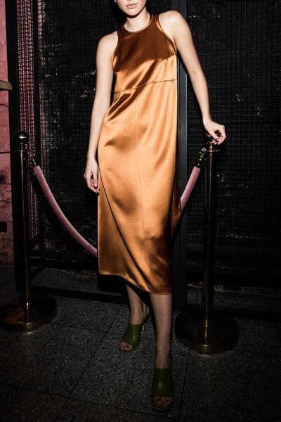 Платье миди на широких бретелях SAYYA_SS1004, фото 4 - в интеренет магазине KAPSULA