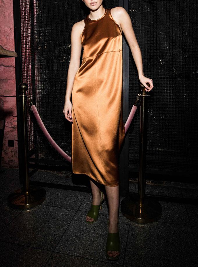 Платье миди на широких бретелях SAYYA_SS1004, фото 1 - в интернет магазине KAPSULA