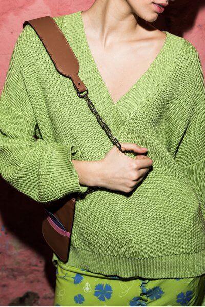 Свитер из хлопка крупной вязки SAYYA_SS1005-1, фото 1 - в интеренет магазине KAPSULA