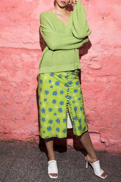 Юбка в принт на пуговицах SAYYA_SS1006, фото 3 - в интеренет магазине KAPSULA