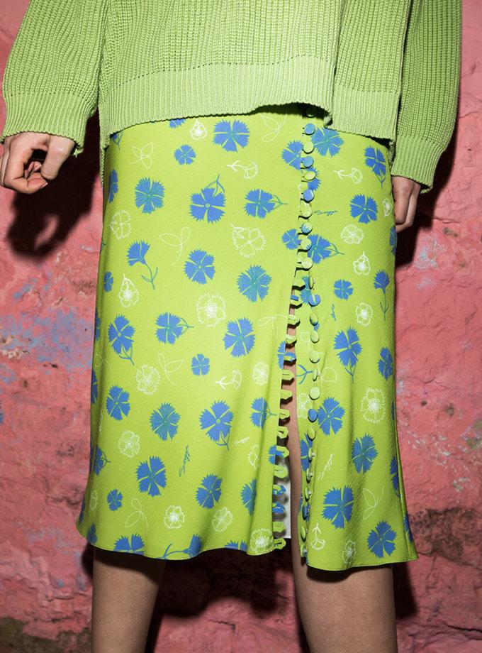 Юбка в принт на пуговицах SAYYA_SS1006, фото 1 - в интернет магазине KAPSULA