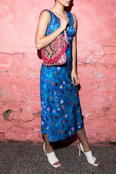 Платье в принт с рюшами SAYYA_SS1015, фото 1 - в интеренет магазине KAPSULA