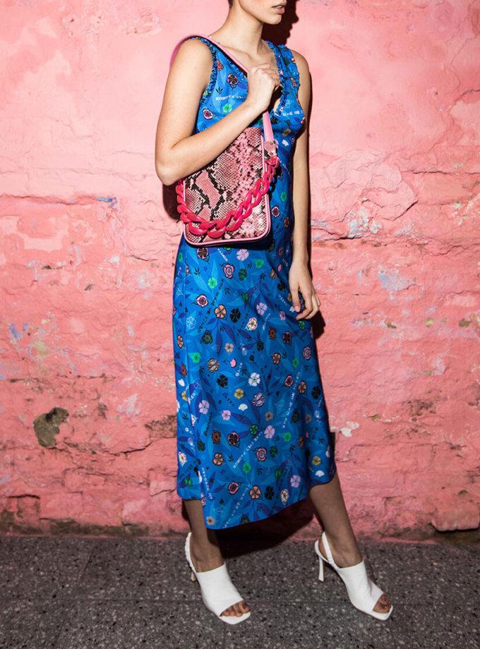 Платье в принт с рюшами SAYYA_SS1015, фото 1 - в интернет магазине KAPSULA